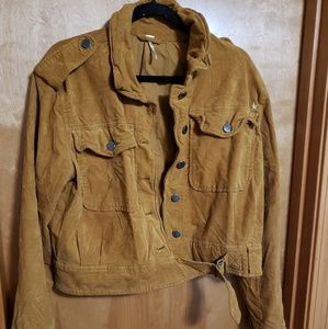 Free People Cropped Corduroy Jacket